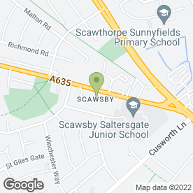 Map of Scawsby Amateur Boxing Club in Doncaster, south yorkshire
