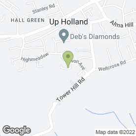 Map of Clearview Window Cleaning in Upholland, Skelmersdale, lancashire