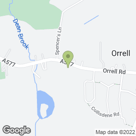 Map of Orrell Roofline in Orrell, Wigan, lancashire