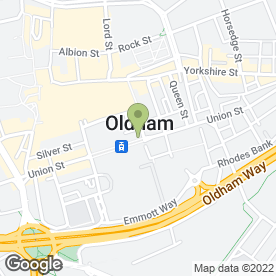 Map of Creative Beauty Rooms in Oldham, lancashire