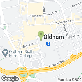 Map of Citizens Advice Bureau in Oldham, lancashire