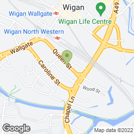 Map of Kings Quality Foods in Wigan, lancashire