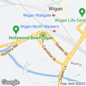 Map of Aspull Domestics in Wigan, lancashire
