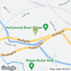 Map of Enterprise Rent-A-Car in Wigan, lancashire