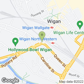 Map of Wigan Children's Information Service in Wigan, lancashire