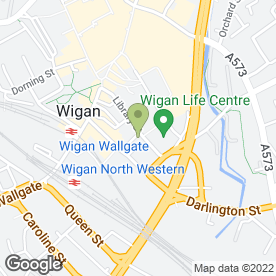 Map of Elaine Stewart Hair & Beauty Ltd in Wigan, lancashire