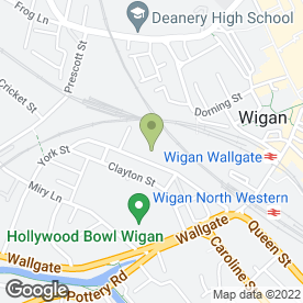 Map of Sally Salon Services in Wigan, lancashire