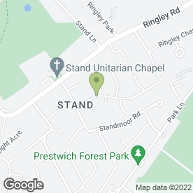 Map of Sandy's Dog Grooming in Whitefield, Manchester, lancashire