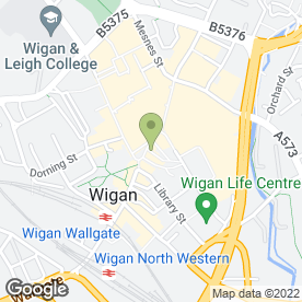 Map of Santander in Wigan, lancashire