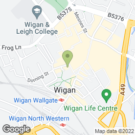 Map of Co-operative Bank plc in Wigan, lancashire
