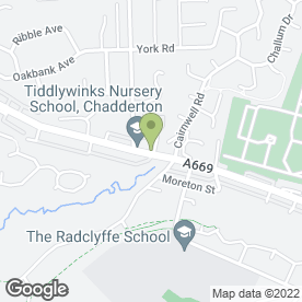 Map of U & V Chadderton Convenience Store in Chadderton, Oldham, lancashire
