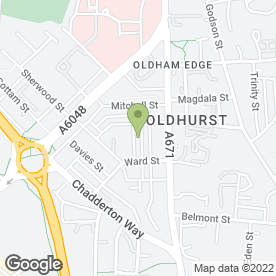 Map of St. Hilda's C of E Primary School in Oldham, lancashire