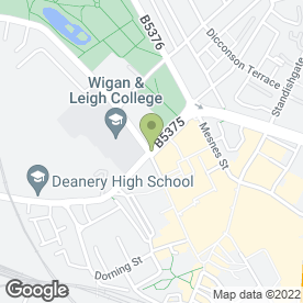 Map of Alan Batt Estate Agents Ltd in WIGAN, lancashire