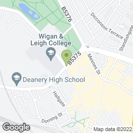 Map of Alan Batt Estate Agents - Sales & Rentals in Wigan, lancashire