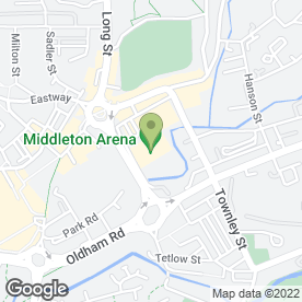 Map of Middleton Arena in Middleton, Manchester, lancashire