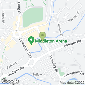 Map of Tj'z Grill in Middleton, MANCHESTER, lancashire