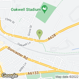 Map of Oakwell Fabrications in Barnsley, south yorkshire