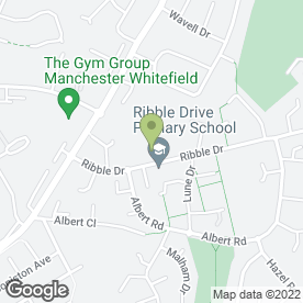 Map of Toddlers Pre-School Learning Ltd in Whitefield, Manchester, lancashire