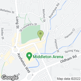 Map of M24 Art Resource Centre Ltd in Middleton, Manchester, lancashire
