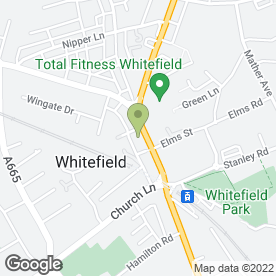 Map of In Car Communications in Whitefield, Manchester, lancashire