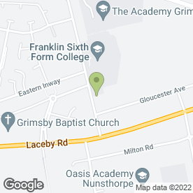 Map of Franklin First Call Nursery in Grimsby, south humberside