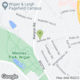 Map of C L H Limousines in Wigan, lancashire