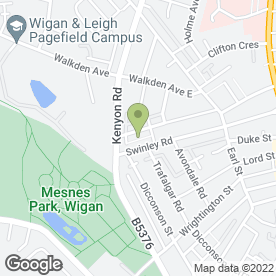 Map of JC Properties in Wigan, lancashire
