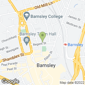 Map of Smiths Chartered Surveyors in Barnsley, south yorkshire