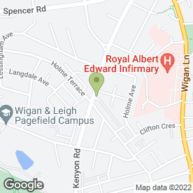 Map of The Family Foot Care Centre in Wigan, lancashire