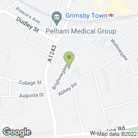 Map of United Carpets in Grimsby, south humberside