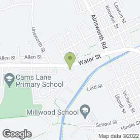Map of Apex Self Storage in Manchester, lancashire
