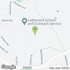 Map of Ladywood School in Little Lever, Bolton, lancashire
