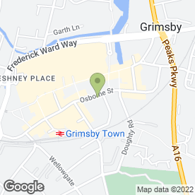 Map of Osborne Street Dental Practice in Grimsby, south humberside