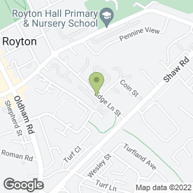 Map of HEAVENSENT BATHROOMS in Royton, Oldham, lancashire