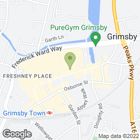 Map of HSBC Bank plc in Grimsby, south humberside