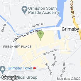 Map of Greggs in Grimsby, south humberside
