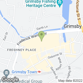 Map of Millies Cookies Ltd in Grimsby, south humberside