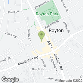 Map of Specsavers Hearing Centres in Oldham, lancashire