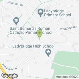 Map of Rumworth School in Bolton, lancashire