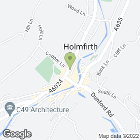 Map of Bamboo Forest in HOLMFIRTH, west yorkshire