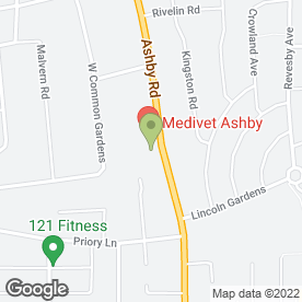 Map of Ashby Road Veterinary Surgery in Scunthorpe, south humberside