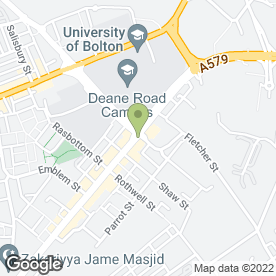 Map of Subway in Bolton, lancashire
