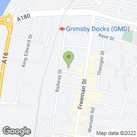 Map of Blue Cross Grimsby Animal Hospital in Grimsby, south humberside