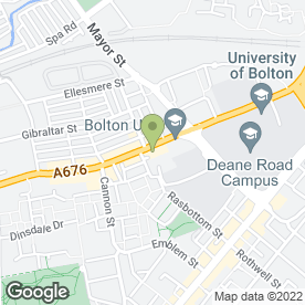 Map of KINGSTON FURNITURE WAREHOUSE in Bolton, lancashire