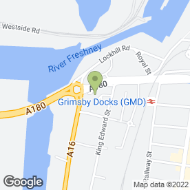 Map of The Landings Hotel & Restaurant in Grimsby, south humberside