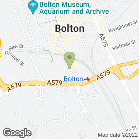 Map of All American in Bolton, lancashire