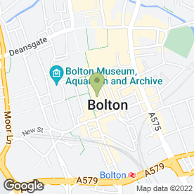 Map of Greggs in Bolton, lancashire