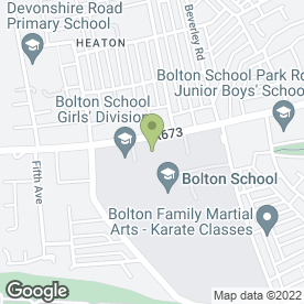 Map of Bolton School Girls' Division in Bolton, lancashire