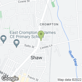 Map of Shaw & Crompton Cycles in Shaw, Oldham, lancashire