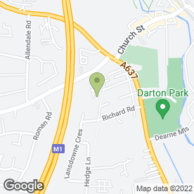 Map of David Hough in Darton, Barnsley, south yorkshire